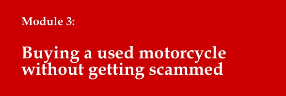 buying used motorcycle